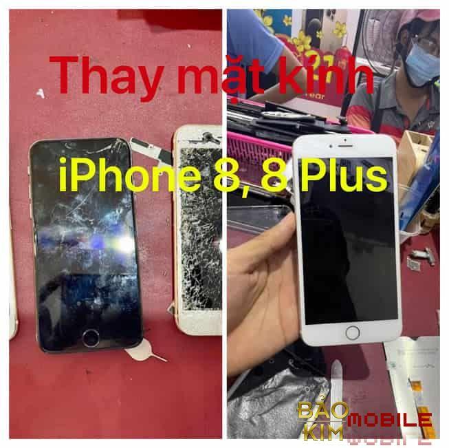 Hình ảnh khi thay xong mặt kính iPhone 8, 8 Plus