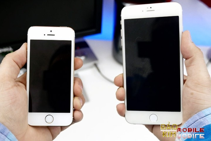 Điện thoại không vỡ kính nhưng lại vỡ màn LCD hiển thị bên trong: Thay màn hình iPhone 6s Plus.