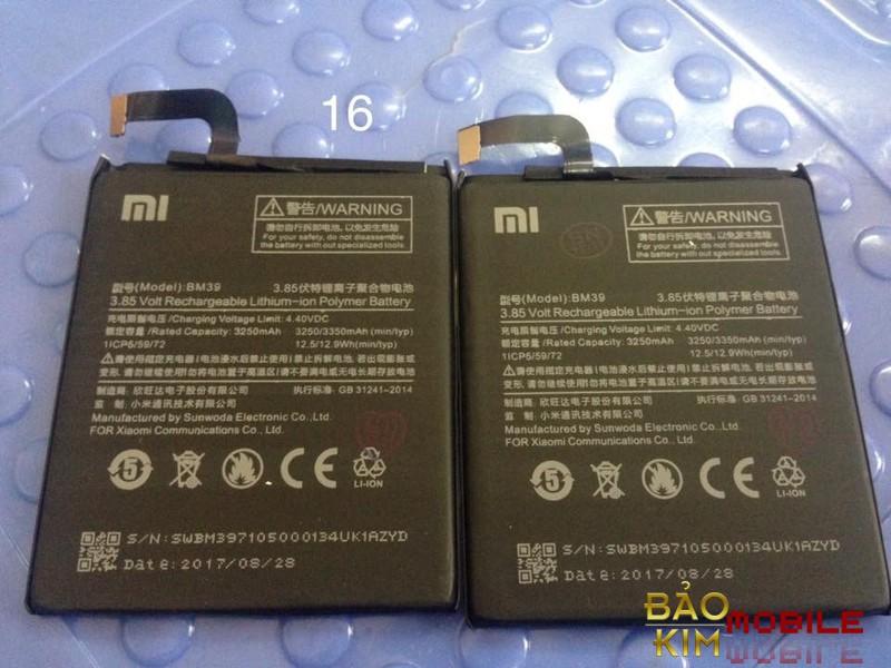 Thay pin Xiaomi Mi 6