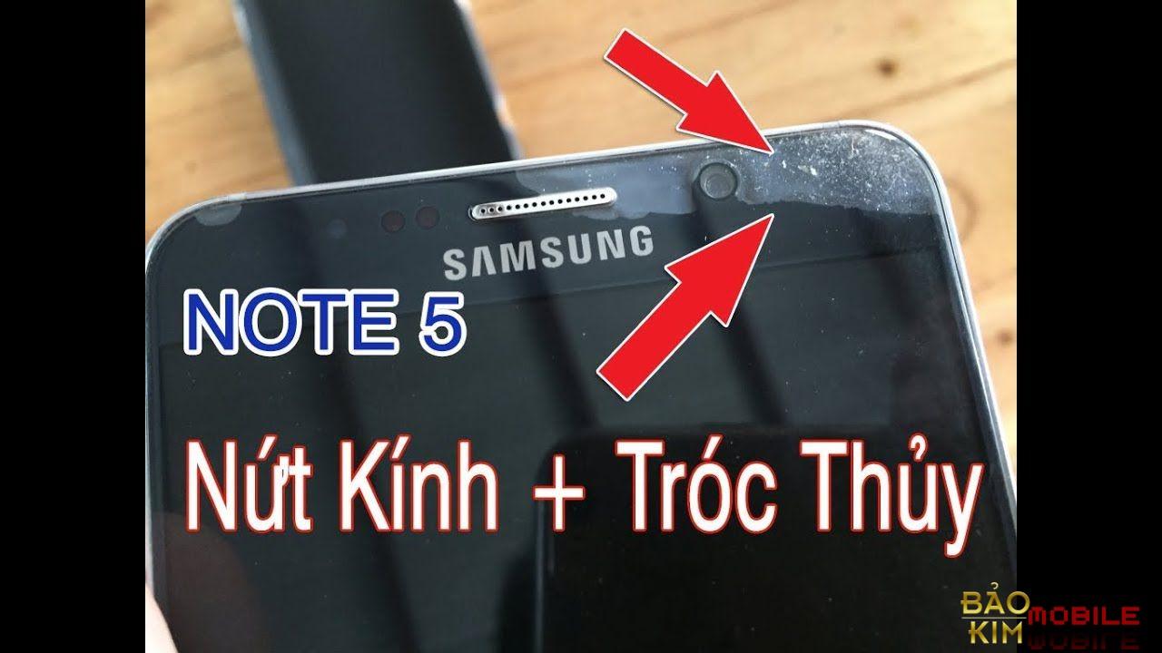 Hình ảnh Samsung Note 5 bị bong sơn, tróc thủy.