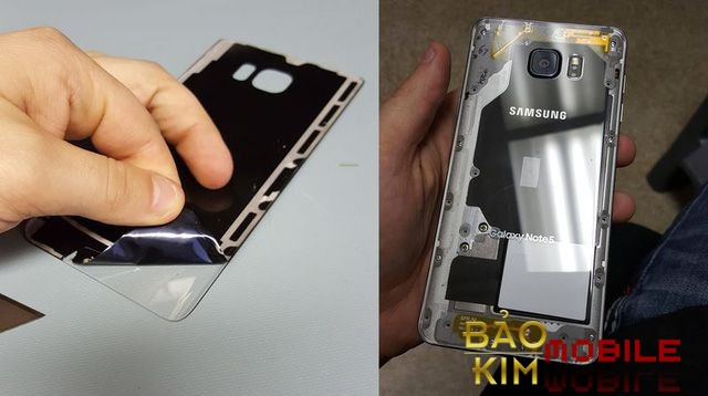 Thay nắp lưng Samsung Note 5 không hề làm ảnh hưởng đến các bộ phận khác.