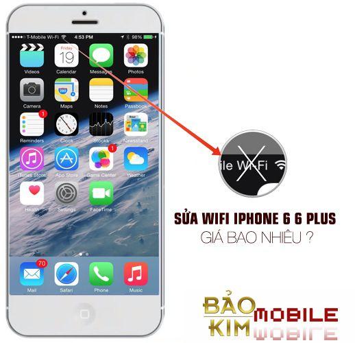 Sửa iPhone 6, 6s mất wifi, wifi yếu giá rẻ tại Bảo kim mobile