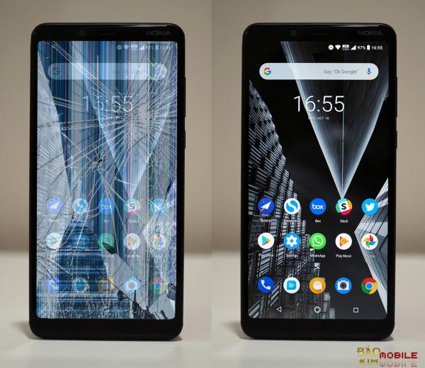 Nokia 3.1 hỏng màn hình buộc phải thay mới để sử dụng