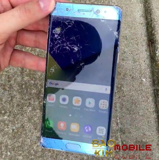Chỉ vỡ kính thì thay mặt kính Samsung Note 7 là được