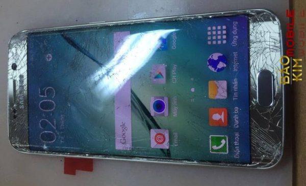 Hình ảnh điện thoại vỡ kính & phải thay mặt kính Samsung S6 Edge