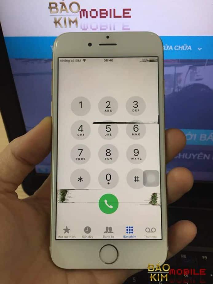 Màn hình iPhone 6 bị chảy mực