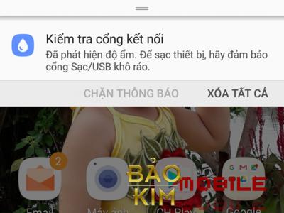 Hiện tượng Samsung Note 8 đã phát hiện độ ẩm