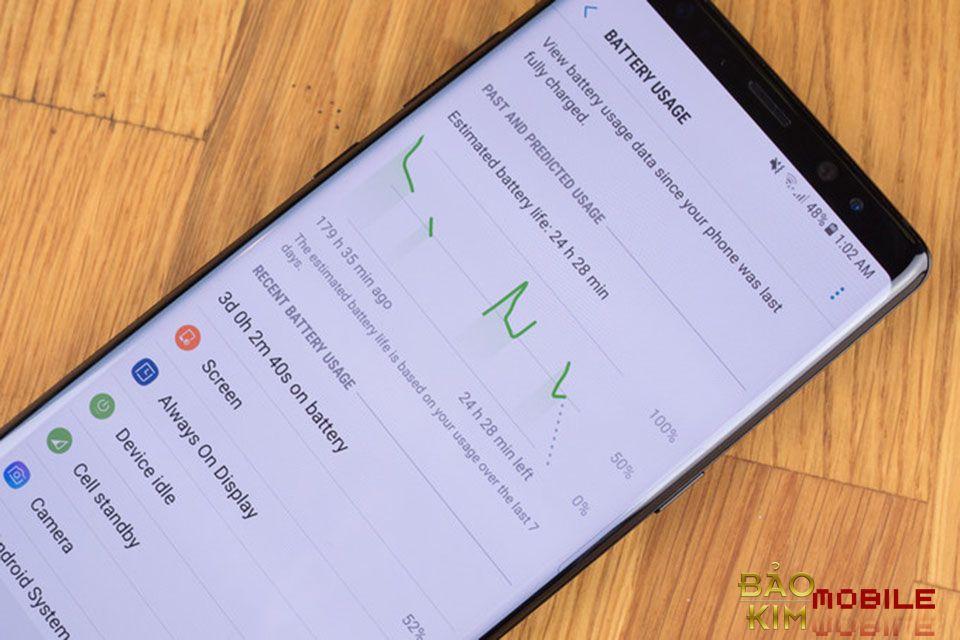 Pin cũng có thể là vấn đề mà chiếc Samsung Note 8 của bạn đang gặp phải