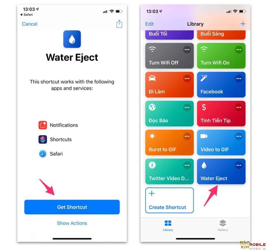 Xả nước nằm trong loa iPhone khi không may dính nước
