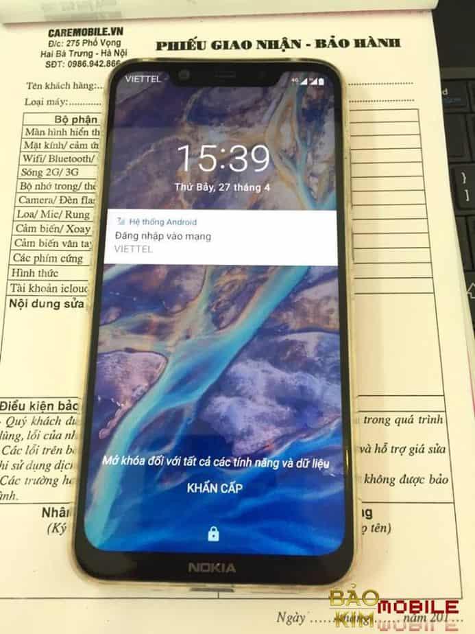 Sửa Nokia X5, X6, X7 mất nguồn