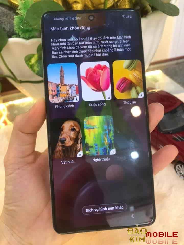 Hình ảnh khi đã thay xong màn hình Samsung M51