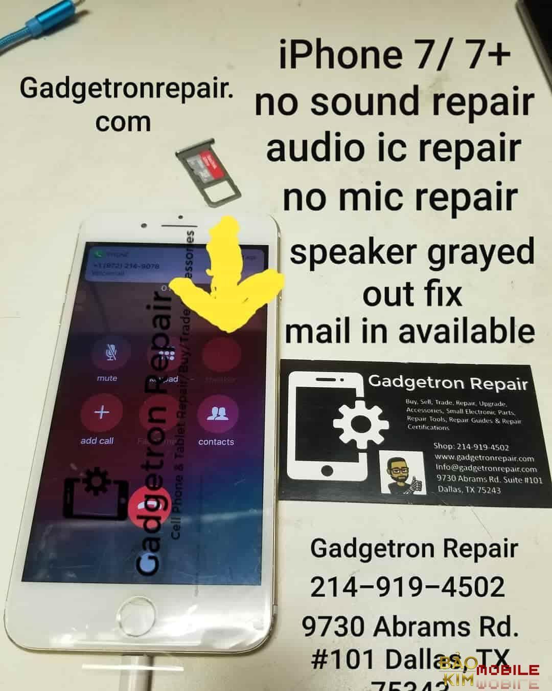 Hình ảnh Thay IC Audio iPhone 7, 7 Plus CHÍNH HÃNG