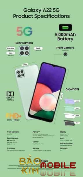 Hình ảnh thay màn hình Samsung A22 Chính hãng