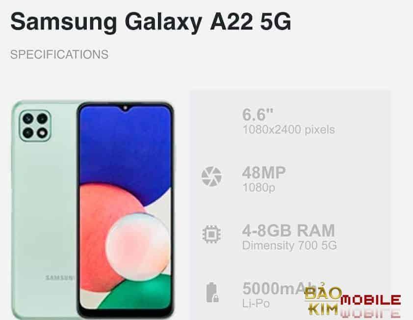 Thay màn hình Samsung A22 chính hãng