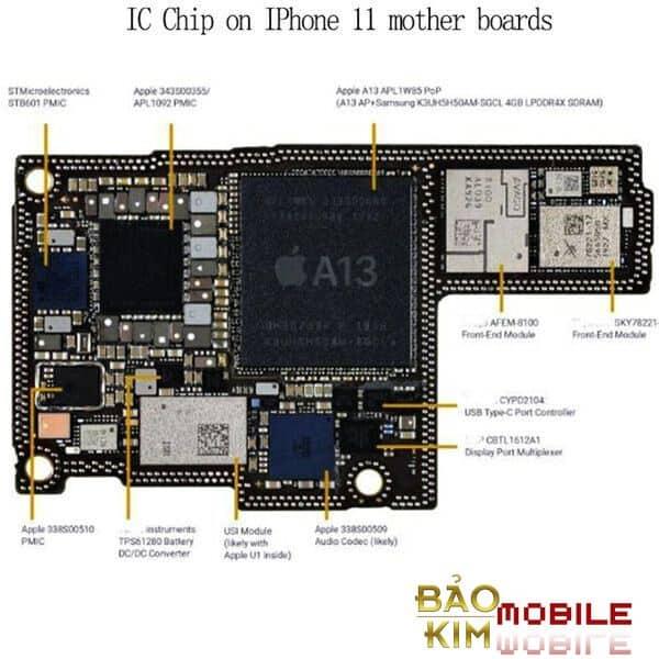 Sửa, thay IC nguồn iPhone 11, 11 Pro Max mất nguồn
